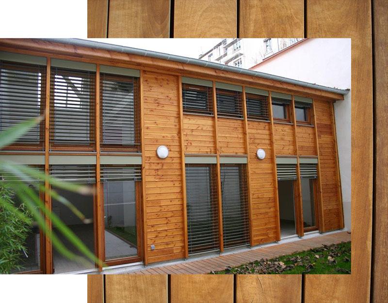 Construction maison ossature bois autour de lyon dans le for Architecte 3d bois